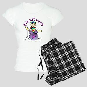 Light Girl Drummer Women's Light Pajamas