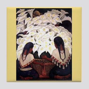 Diego Rivera Cala Lilies Art Tile Tile Coaster