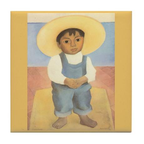 Diego Rivera Nino Ignacio Art Tile Coaster