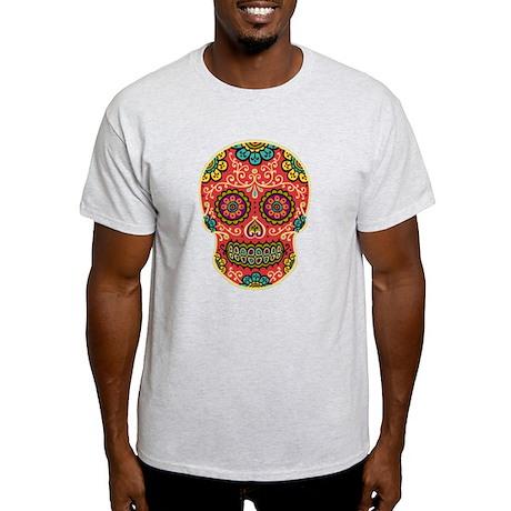 Red Sugar Skull Light T-Shirt