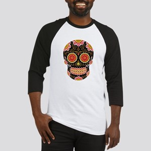 Black Sugar Skull Baseball Jersey