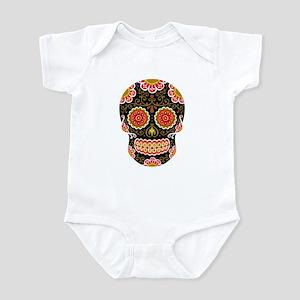 Black Sugar Skull Infant Bodysuit