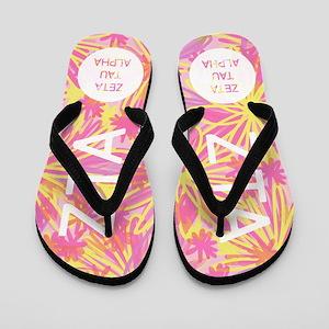 Zeta Tau Alpha Sorority FB Design Flip Flops