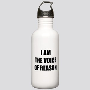 I am the voice of reason Stainless Water Bottle 1.