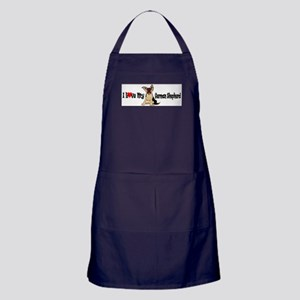 German Shepherd Pup Apron (dark)