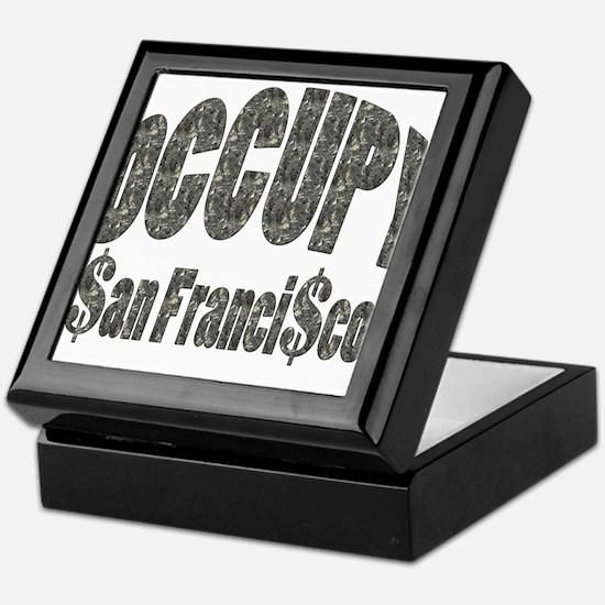 Cute Occupywallstreet Keepsake Box