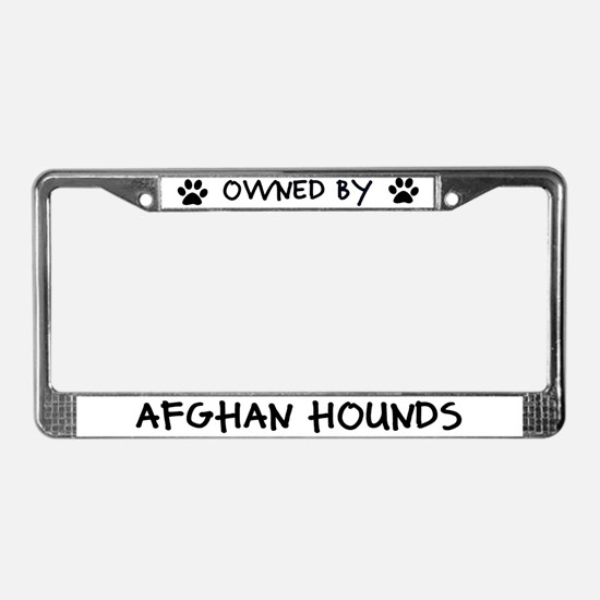 Owned by Afghan Hounds License Plate Frame