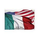 Italian American Rectangle Magnet