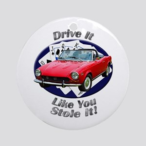 Fiat 124 Spider Ornament (Round)
