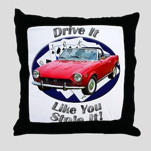Fiat 124 Spider Throw Pillow