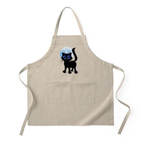 Black Halloween Kitten Apron