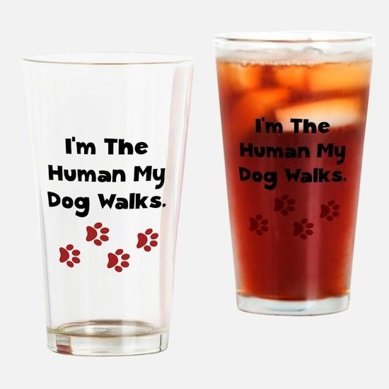 Human Dog Walks Drinking Glass