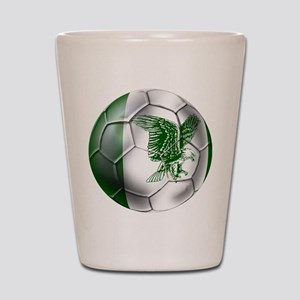 Nigeria Football Shot Glass