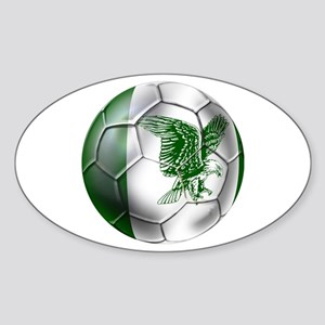 Nigeria Football Sticker (Oval)