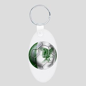 Nigeria Football Aluminum Oval Keychain