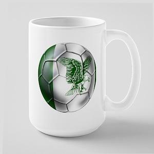 Nigeria Football 15 oz Ceramic Large Mug