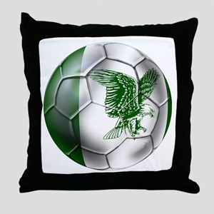 Nigeria Football Throw Pillow