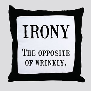 Irony Throw Pillow