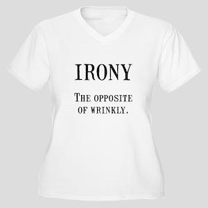 Irony Women's Plus Size V-Neck T-Shirt
