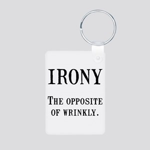 Irony Aluminum Photo Keychain