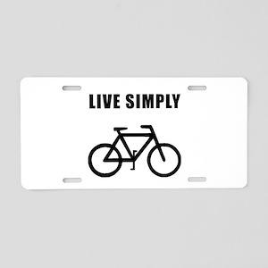 Live Simply Bike Aluminum License Plate