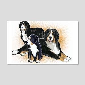 Bernese Mountain Dog Trio 22x14 Wall Peel