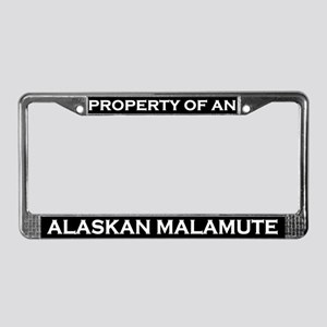 Property of Alaskan Malamute License Plate Frame
