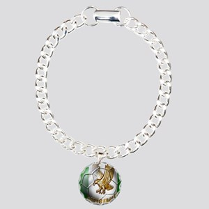 Super Eagles Football Charm Bracelet, One Charm