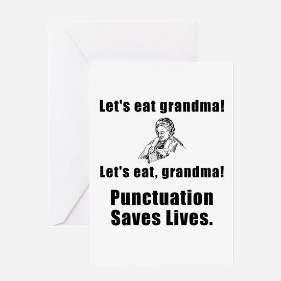 Lets Eat Grandma! Greeting Card