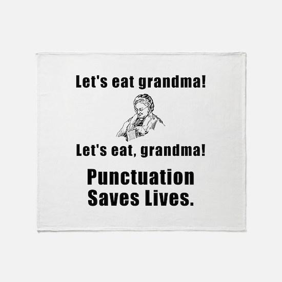 Lets Eat Grandma! Throw Blanket