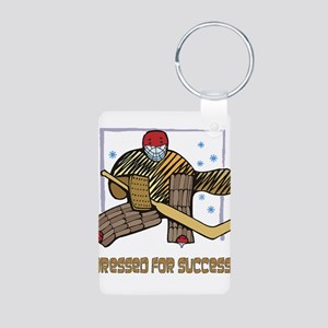 Hockey Dressed For Success Aluminum Photo Keychain