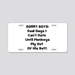 Sorry Boys Aluminum License Plate