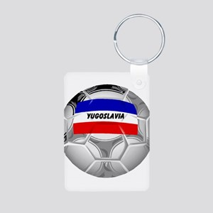 Yugoslavia Soccer Aluminum Photo Keychain