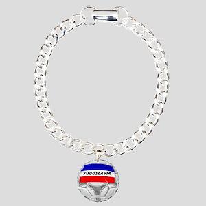 Yugoslavia Soccer Charm Bracelet, One Charm