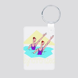 Synchronized Swim Aluminum Photo Keychain