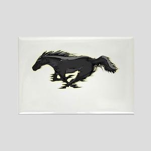 Mustang Running Horse Rectangle Magnet
