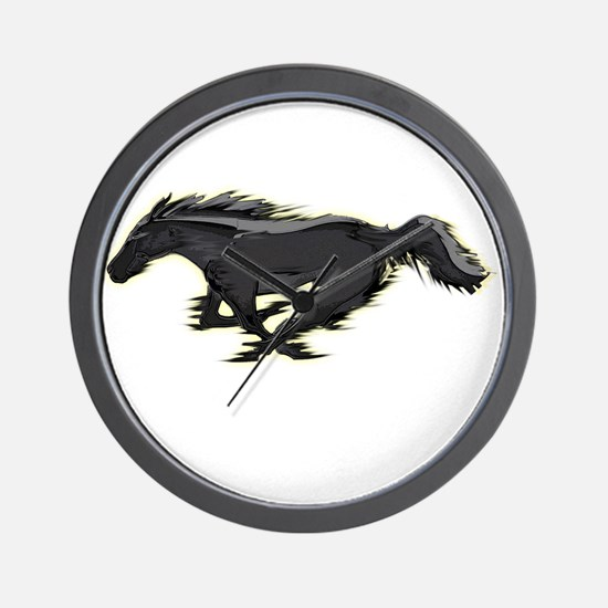 Mustang Running Horse Wall Clock
