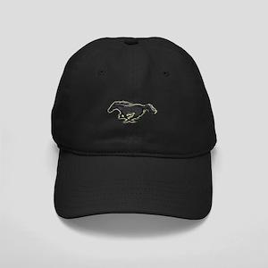 Mustang Running Horse Black Cap
