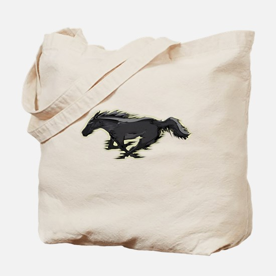 Mustang Running Horse Tote Bag