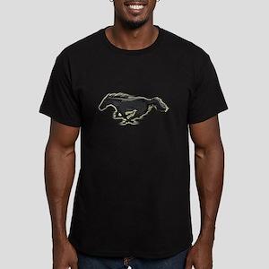 Mustang Running Horse Men's Fitted T-Shirt (dark)