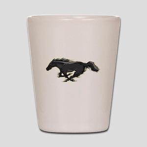 Mustang Running Horse Shot Glass