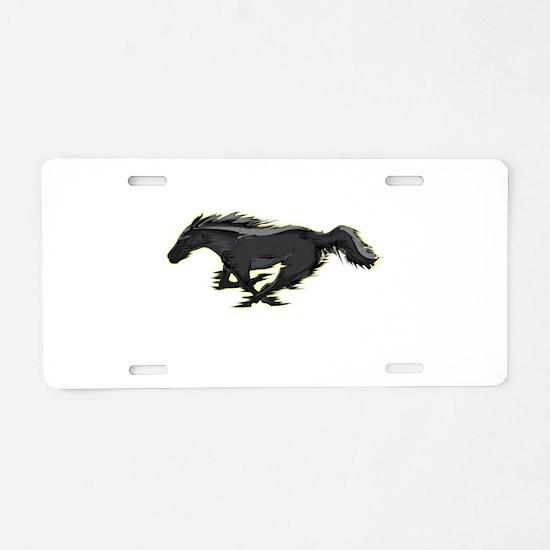 Mustang Running Horse Aluminum License Plate