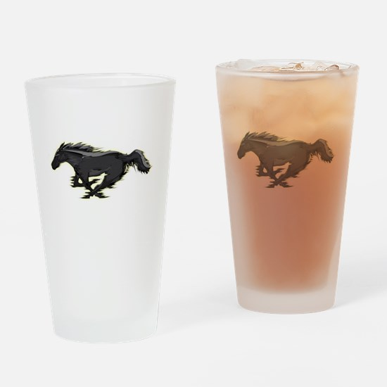 Mustang Running Horse Drinking Glass