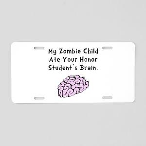 Zombie Child Aluminum License Plate