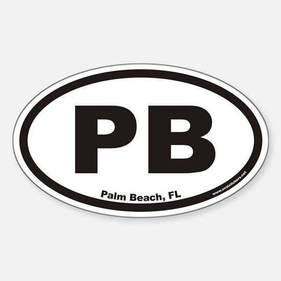 Palm Beach Florida PB Euro Oval Decal