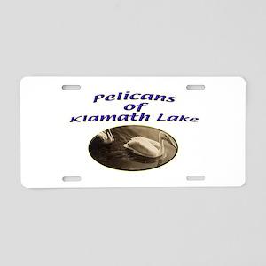 Pelicans of Klamath Lake Aluminum License Plate