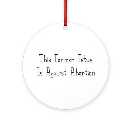 Former Fetus Ornament (Round)
