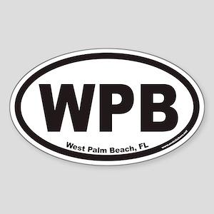 West Palm Beach WPB Euro Oval Sticker