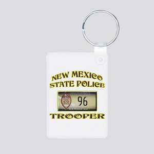 New Mexico State Police Aluminum Photo Keychain