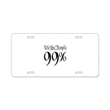 we the people 99% small Aluminum License Plate